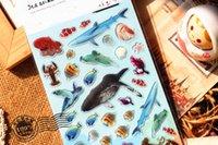 Wholesale South Korea Sent Straight Yeehyun Perspective Epoxy Sticker Marine Animals