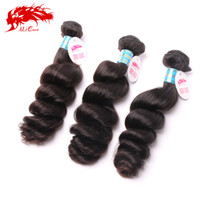 Natural Color 100g Loose Wave Ali Queen hair unprocessed Grade 6A Peruvian Loose Wave Hair Virgin Hair Weaving 3Pcs Lot, Cheap Virgin Peruvian Loose Wave Hair