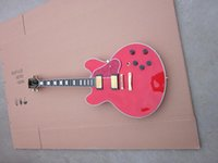 Wholesale Replica most popular products Jumbo body electric guitar chinese red guitar