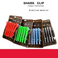 Wholesale 6pcs pack hair clips high quality shark clip professional hair pin material of all aluminiym hair styling tool section clip