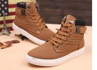 green sand - Korean men s new autumn and winter high shoes retro CASUAL BOOTS Mens Boots Martin Martin tie trend A0001