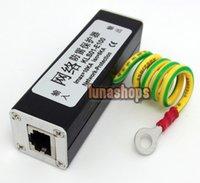 Wholesale RJ45 Female Ethernet Network Surge Thunder Arrester kls01 e100 Black limited LN003103