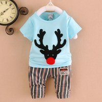Cheap New Arrival Baby Sets Summer Best Cotton Short Sleeve Baby Clothing Set