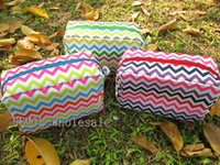 chevron bag - High Quality New Stylish Chevron Zigzag Multi colors Polyester Womens Cosmetic Cases Makeup Bag Che