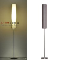 Wholesale Modern LED Stainless Steel Fabric Floor Lamps Fashion Nordic IKEA Remote Beige Yellow Brown Red Living Room Bedroom Study Lighting Free S H