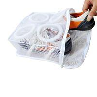 Wholesale 2015 high quality fashion Storage Organizer Bags Mesh Laundry Shoes Bags Dry Shoe Organizer Portable Washing Bags A5