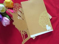 Wholesale Creative upscale Western style Christmas greeting card paper cut Christmas cards Christmas cards folded