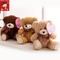 bearing tape - Sale Time limited Freeshipping Backpacks Tsai Lovely Scarf Embroidered Heart Teddy Bear Plush Doll Boys Birthday Gift Tape