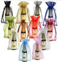 bag bottles - Wine Bottle Cover luxury Clear Organza Drawstring Bags cm x cm quot x quot Fashion Gift Pouches