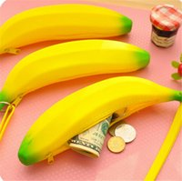 Cheap Super Cute Children Banana Wallets Ladies Girls Lovely Fruit Handbag Coin Purses Chirstmas Useful Gifts Europe Style K213