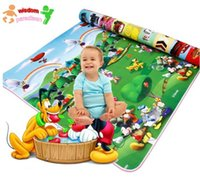 Wholesale HWP x180x0 cm Winnie paddle Mickey home Two design Baby Toys Play Mats