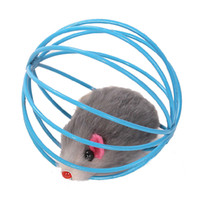 Wholesale Pet Cat Lovely Kitten Gift Funny Play Toys Mouse Ball Colors Vary