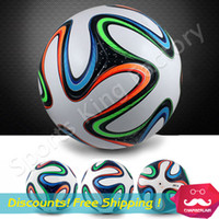 balls - 2014 WORLD CUP BRAZUCA FINAL MATCH SOCCER BALL SIZE Brasil NEW Top Glider Match Ball Brazil soccer ball