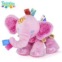 Wholesale 50pcs Play Pals Pink Elephant Baby Animal Soft Stuffed Plush Doll Puppets Girl Birthday Gift Toys HL