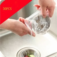 sinks stainless steel - 30 Nylon Mesh Aquarium Pond Filter Media Drain filter anti clogging residue kitchen sink Rubbish Strainers hot sale