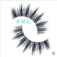 Wholesale D pair D handmade real mink fur false eyelash D strip mink lashes thick fake faux eyelashes Makeup beauty