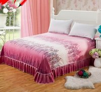 Wholesale New arrival Pringting Sheets bedding protective sleeve single anti slip cotton bedspread bed skirt bed cover for m m bed