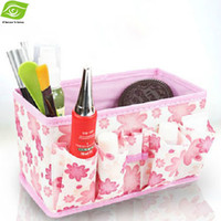 bamboo cosmetic containers - Multi Function Storage Bag Organizer For Cosmetic Underwear Etc Table Storage Box Non Woven Storage Container dandys