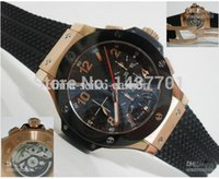 Cheap New Luxury Automatic Men's Watch Rose Gold Ceramic Eta 7750 Wristwat Chronograph Mens Watches