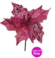 artificial trees cheap - 2015 New New Arrival cm Pink Artificial Christmas Flowers Poinsettia Cheap Christmas Tree Decoration Ornaments