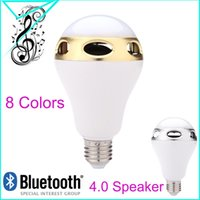 Wholesale Novelty Lamp Adjustable Colorful Mood E27 Stage Disco Lighting Smartphone Wireless Bluetooth Speaker Music Player L0118
