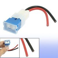 automobile fuses - A Wire Leads Female PAL Inline Fuse Holder Blue for Car Automobile