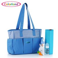Wholesale Tote Baby Changing Bag Multi Function Mommy Handbag Fashion Baby care Seperate Package Large Capacity Blue Colorland Special Offer Colorland