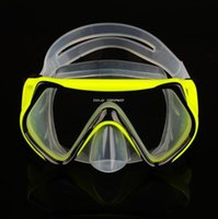 Wholesale 3 Colors Tempered Glass scuba Diving Mask Goggles Swimming Diving Goggles Snorkeling Equipment Anti Fog Eyewear