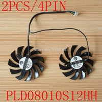 Wholesale POWER LOGIC PLD08010S12HH DC V A Wire Dual Fan MSI GTX GTX GTX GTX R6790 R6870 R6850HAWK fan A2