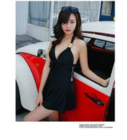 Bikinis belly swimsuit - womens swimwear one piece siamese skirt style cover belly was thin female swimsuit