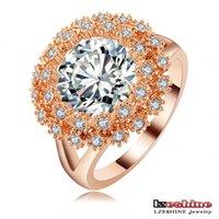 Cheap LZESHINE Brand Dazzling High Quality Ring 18K Rose Gold  Platinum Plt Costume Jewelry Fashion Women Rings With Stones Ri-HQ1121