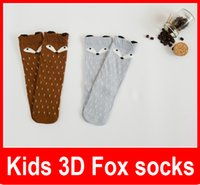 Wholesale HOT Kids Lovely D Fox socks Baby Boy Girl Leg Warmers stocking suitable for Y Cotton Animal image