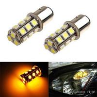 Wholesale 7507 PY21W BAU15s SMD Yellow Tail Turn Signal LED Car Light Lamp Bulb V