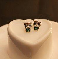 Wholesale Womens Girls Western Ancient Owl Lovely Ear Stud Earrings
