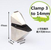 Wholesale 4pcs Glass Clamp bracket Satin finish clamp size option mm Zinc alloy Material