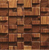 Wholesale 3D wooden mosaic tiles interior design wall tiles building supplies home hotel bar restaurant design mosaic tile patterns natural wood mosai