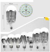 Haute puissance 3w 5w ampoules en aluminium LED ampoules AC 85V-265V conduit vers le bas léger navire CE ROHS approuvé 12w matériau acrylique