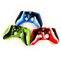 Cheap Free DHL 100 pcs a lot Soft Silicone Camouflage Camo Protective Sleeve Case Cover Skin Cover for Xbox one Controller Goodwillbiz