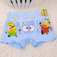 Wholesale Boys Underwear Briefs Minions Despicable Me Children Kids Cartoon Boxer Briefs Panties God steal dads design modal children underwear