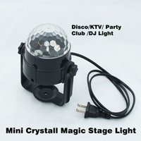 Wholesale ommercial Lighting Stage Lighting Effect Best Promotion Mini RGB LED Crystal Magic Ball Stage Effect Lighting Lamp Party Di