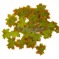 autumn leaf festival - Hot Sale Autumn Maple Leaf Fall Silk Leaves Foliage Wedding Party Festival Decoration Craft decor HG0056