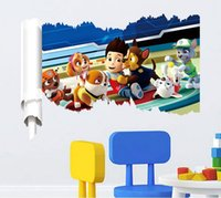 art marshall - New Cartoon D Patrol Ryder Wall Stickers For Kids Room Marshall Rubble Chase Rocky Zuma Skye Nursery Home Wall Art Murals