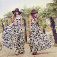 Cheap Promotion !Women Summer Dress Boho Long Maxi Evening Party Chiffon Dress Beach Dresses b7 SV005177