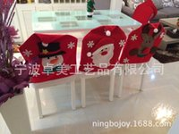 artificial stool - decoracao de natal merry Christmas Chairs Stools ornament for home snow hats send artificial decorations hats gifts three style