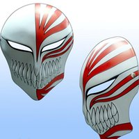 animations themes - Grim Reaper Mask Movie Theme Animation Kurosaki Halloween Dance Party Mask Toys Role For Adult w Black White Red White