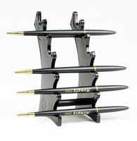 Wholesale 1Pc Black Makeup Pen Organizer Box Acrylic Multifunction Pen Pencil Display Frame Stand Storage Rack Organizer
