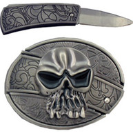 Wholesale The Punisher Skull With Knife Belt Buckle Superhero