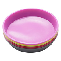 Wholesale Round Silicone Pizza Pan for Baking Wedding Cake Pizza Pie Bread Loaf for Microwave Oven