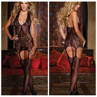 sexy pussy - women sexy backless Lace bodystocking Fascinated Black Open Crotch Exposed Pussy knitted baroque design Hollow Out Lace Teddies
