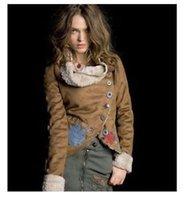 Wholesale Desigual Women s faux fur fashion embroidery coat giacca pelle